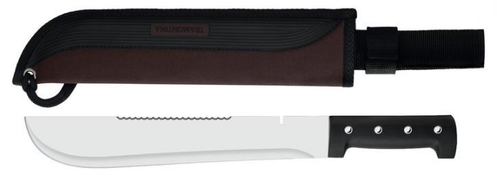 A Tramontina conta com dois facões em aço inox, um da série Sport e outro  da séria Outdoor. Os dois são muito parecidos, mudando somente um detalhe  no cabo. 5aac1cb9a8