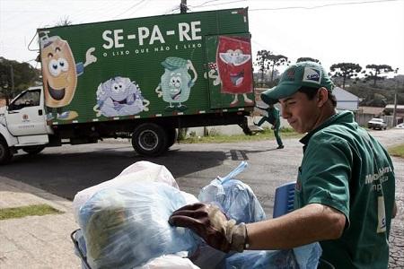 Coleta seletiva de lixo em Curitiba